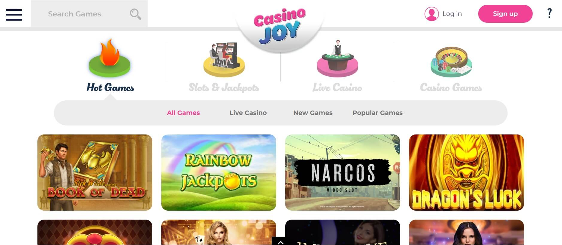 casino joy games canada