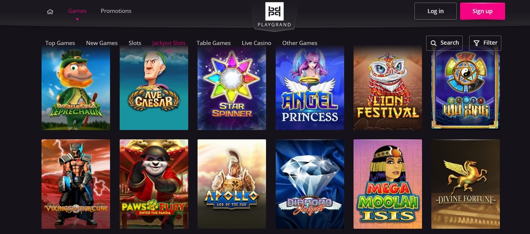 playgrand casino games and slots canada